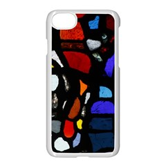 Art Bright Lead Glass Pattern Apple Iphone 8 Seamless Case (white) by Sapixe