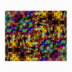 Color Mosaic Background Wall Small Glasses Cloth (2 Side) by Sapixe