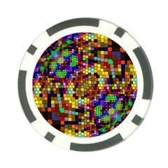 Color Mosaic Background Wall Poker Chip Card Guard by Sapixe
