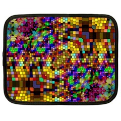 Color Mosaic Background Wall Netbook Case (large) by Sapixe
