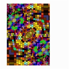 Color Mosaic Background Wall Small Garden Flag (two Sides) by Sapixe