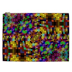 Color Mosaic Background Wall Cosmetic Bag (xxl)