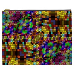 Color Mosaic Background Wall Cosmetic Bag (xxxl) by Sapixe