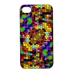 Color Mosaic Background Wall Apple Iphone 4/4s Hardshell Case With Stand