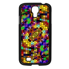 Color Mosaic Background Wall Samsung Galaxy S4 I9500/ I9505 Case (black)