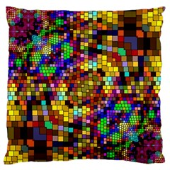 Color Mosaic Background Wall Standard Flano Cushion Case (two Sides)