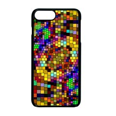 Color Mosaic Background Wall Apple Iphone 7 Plus Seamless Case (black)