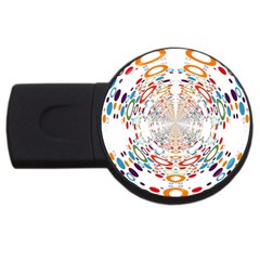 Wallpaper Pattern Colorful Color Usb Flash Drive Round (2 Gb)