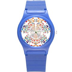 Wallpaper Pattern Colorful Color Round Plastic Sport Watch (s) by Sapixe