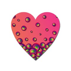 Wallpaper Background Funny Texture Heart Magnet by Sapixe