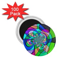 Retro Wave Background Pattern 1 75  Magnets (100 Pack)