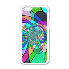Retro Wave Background Pattern Apple Iphone 6/6s White Enamel Case by Sapixe