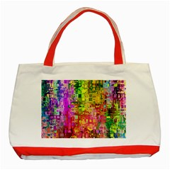 Color Abstract Artifact Pixel Classic Tote Bag (red) by Sapixe