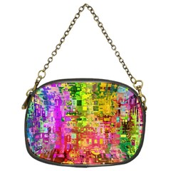 Color Abstract Artifact Pixel Chain Purse (two Sides)