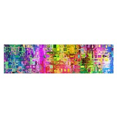 Color Abstract Artifact Pixel Satin Scarf (oblong)