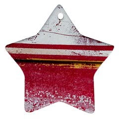 Boat Chipped Close Up Damaged Ornament (star) by Sapixe