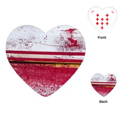 Boat Chipped Close Up Damaged Playing Cards (heart) by Sapixe