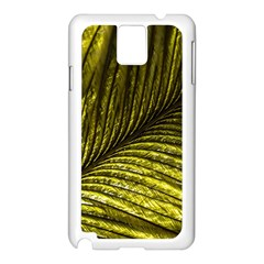 Feather Macro Bird Plumage Nature Samsung Galaxy Note 3 N9005 Case (white) by Sapixe