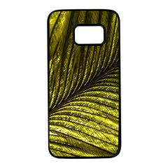 Feather Macro Bird Plumage Nature Samsung Galaxy S7 Black Seamless Case by Sapixe