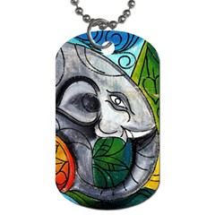 Graffiti The Art Of Spray Mural Dog Tag (one Side) by Sapixe