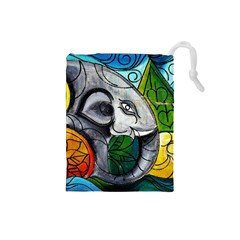 Graffiti The Art Of Spray Mural Drawstring Pouch (small)