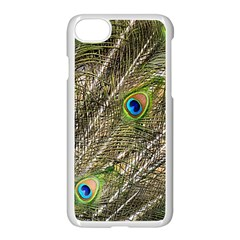Peacock Feathers Color Plumage Green Apple Iphone 7 Seamless Case (white) by Sapixe