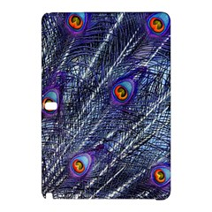 Peacock Feathers Color Plumage Blue Samsung Galaxy Tab Pro 10 1 Hardshell Case by Sapixe