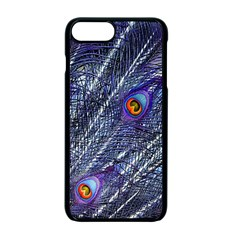 Peacock Feathers Color Plumage Blue Apple Iphone 7 Plus Seamless Case (black)