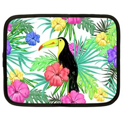 Leaves Tropical Nature Green Plant Netbook Case (large)