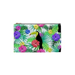 Leaves Tropical Nature Green Plant Cosmetic Bag (small) by Sapixe