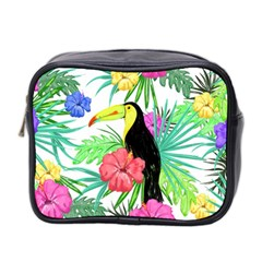 Leaves Tropical Nature Green Plant Mini Toiletries Bag (two Sides) by Sapixe