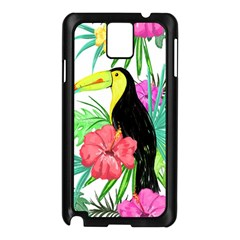 Leaves Tropical Nature Green Plant Samsung Galaxy Note 3 N9005 Case (black) by Sapixe