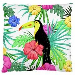Leaves Tropical Nature Green Plant Large Flano Cushion Case (two Sides)