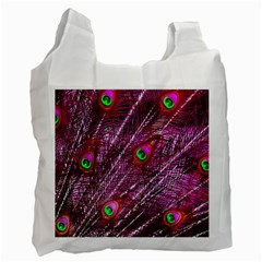 Peacock Feathers Color Plumage Recycle Bag (one Side) by Sapixe