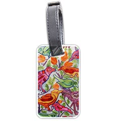 Art Flower Pattern Background Luggage Tags (one Side)  by Sapixe