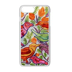 Art Flower Pattern Background Apple Iphone 8 Plus Seamless Case (white)