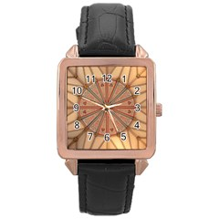 York Minster Chapter House Rose Gold Leather Watch