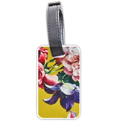 Textile Printing Flower Rose Cover Luggage Tags (one Side)  by Sapixe