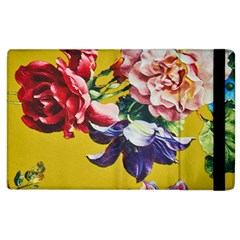 Textile Printing Flower Rose Cover Apple Ipad 3/4 Flip Case by Sapixe