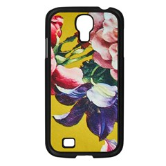 Textile Printing Flower Rose Cover Samsung Galaxy S4 I9500/ I9505 Case (black)