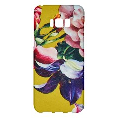 Textile Printing Flower Rose Cover Samsung Galaxy S8 Plus Hardshell Case  by Sapixe