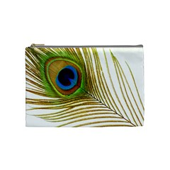 Peacock Feather Plumage Colorful Cosmetic Bag (medium)
