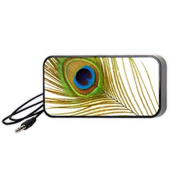 Peacock Feather Plumage Colorful Portable Speaker