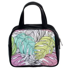 Leaves Tropical Nature Plant Classic Handbag (two Sides) by Sapixe