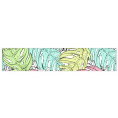Leaves Tropical Nature Plant Small Flano Scarf by Sapixe