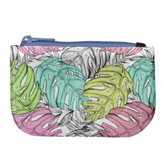 Leaves Tropical Nature Plant Large Coin Purse by Sapixe