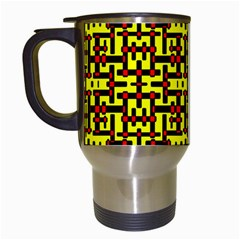 Red Black Yellow Travel Mugs (white) by ArtworkByPatrick