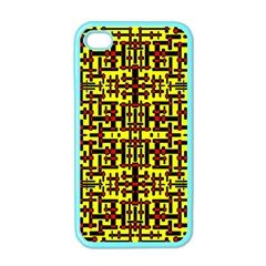 Red Black Yellow Apple Iphone 4 Case (color)