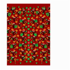 Christmas Time With Santas Helpers Large Garden Flag (two Sides) by pepitasart