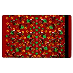 Christmas Time With Santas Helpers Apple Ipad 3/4 Flip Case by pepitasart